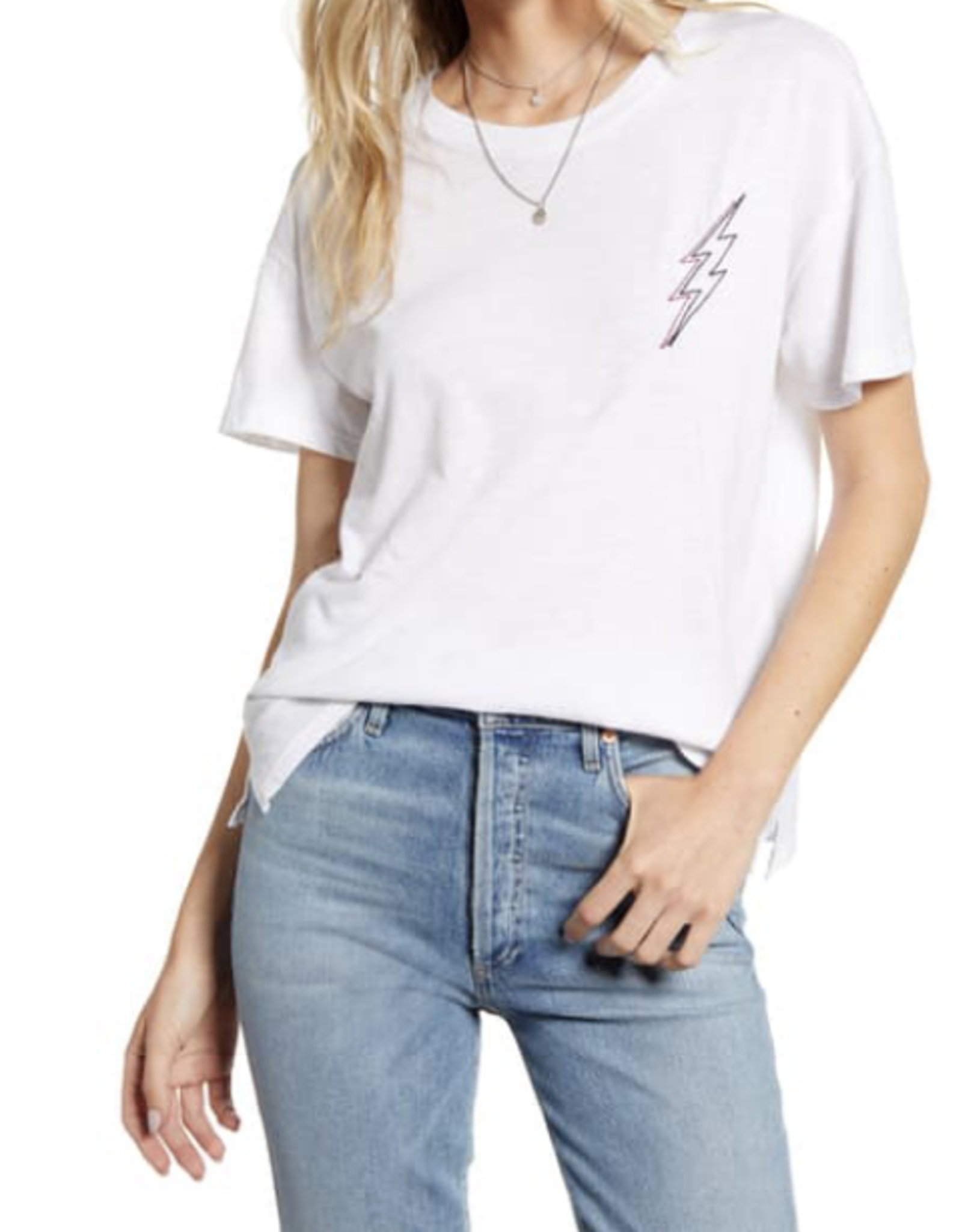 Rails White Lightning Embroidery Davie T-Shirt