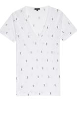 Rails White Mini Pineapples Cara T-Shirt