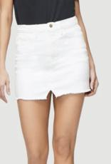 Frame Blanc Le Mini Skirt Split Front