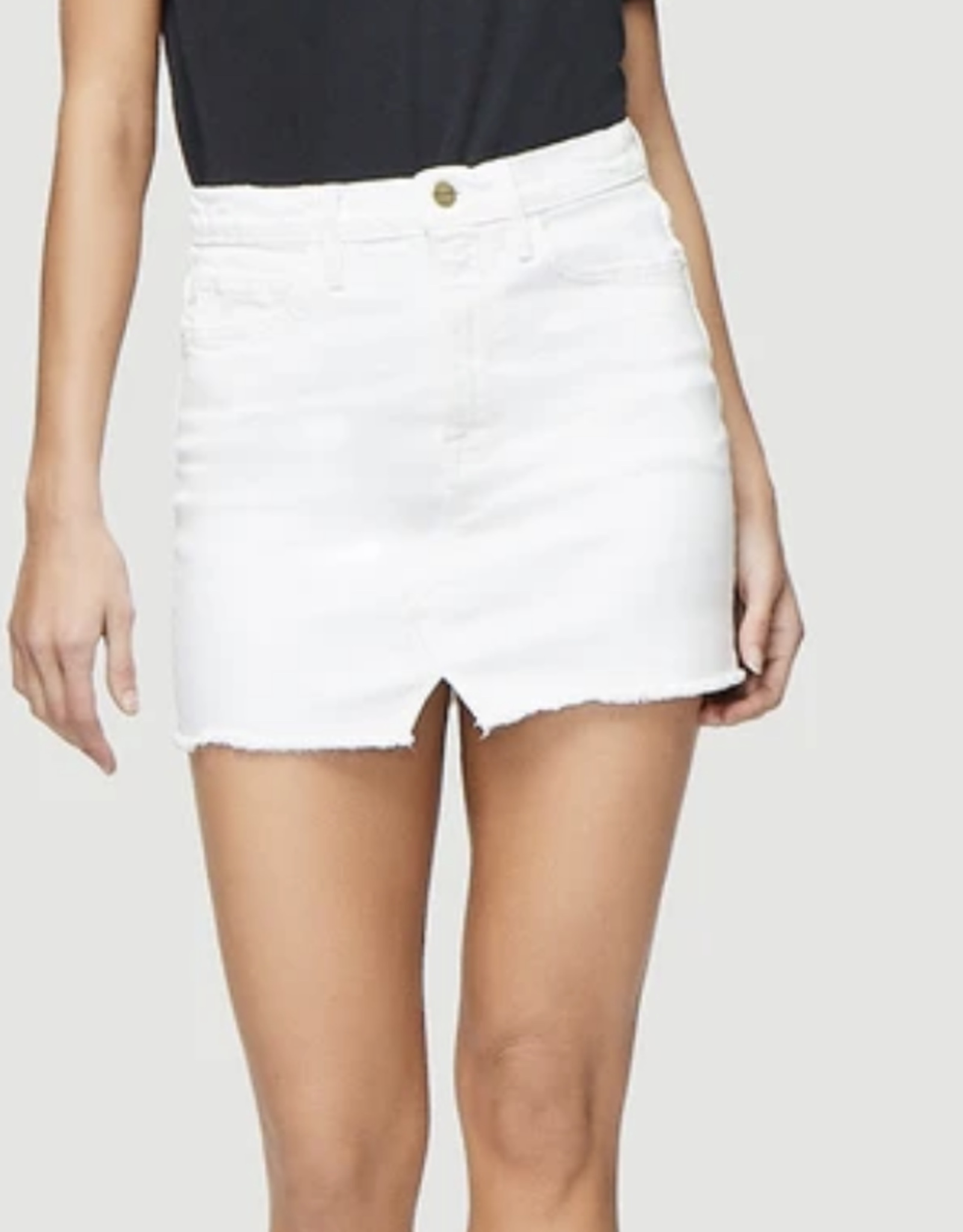 Frame Blanc Le Mini Skirt Split Front