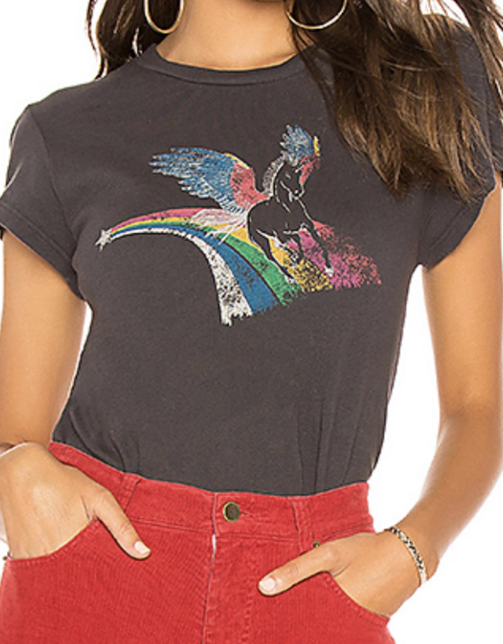 Pam & Gela Vintage Black Crew Neck Tee Unicorn