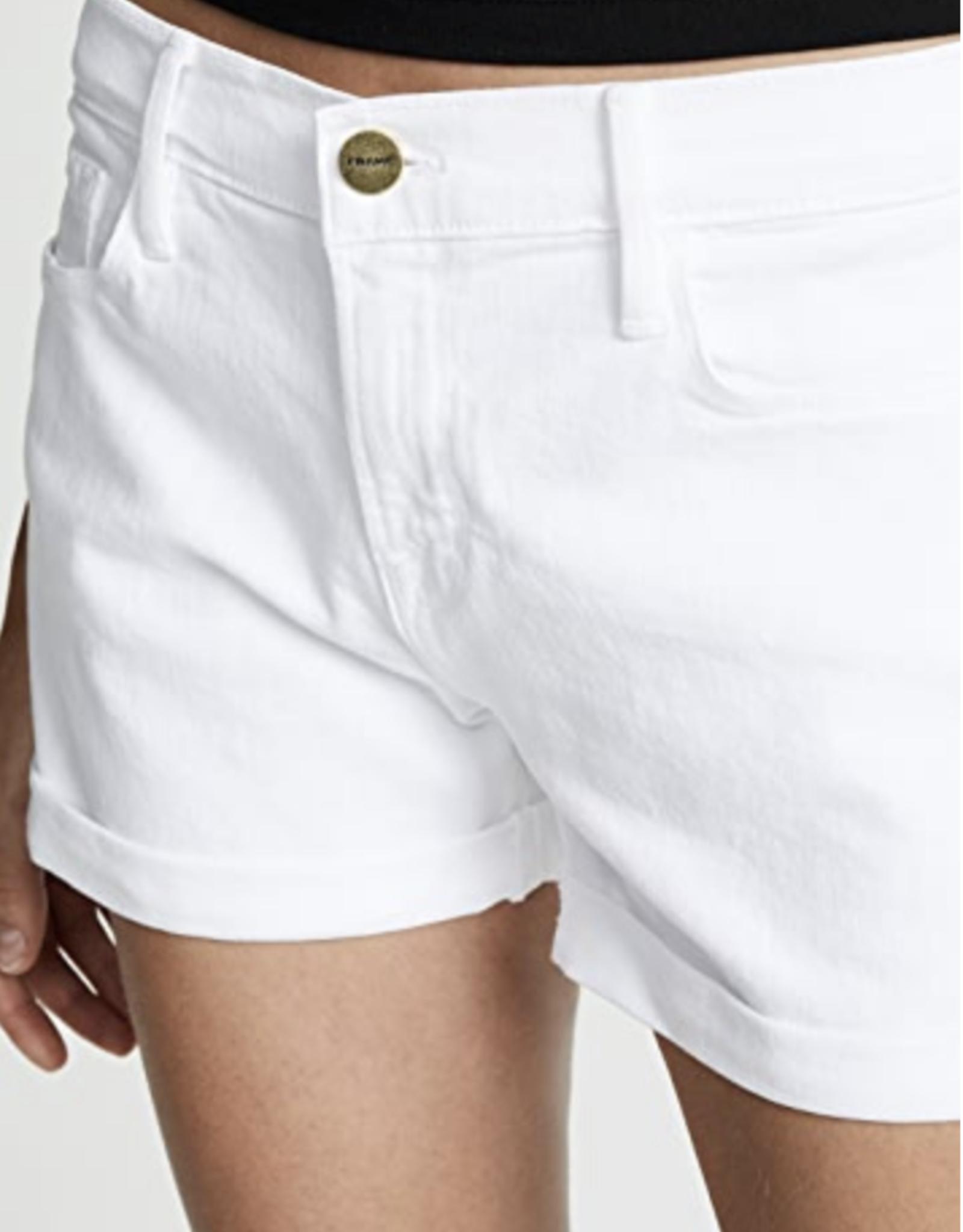 Frame Blanc Le Cut Off Cuffed Short