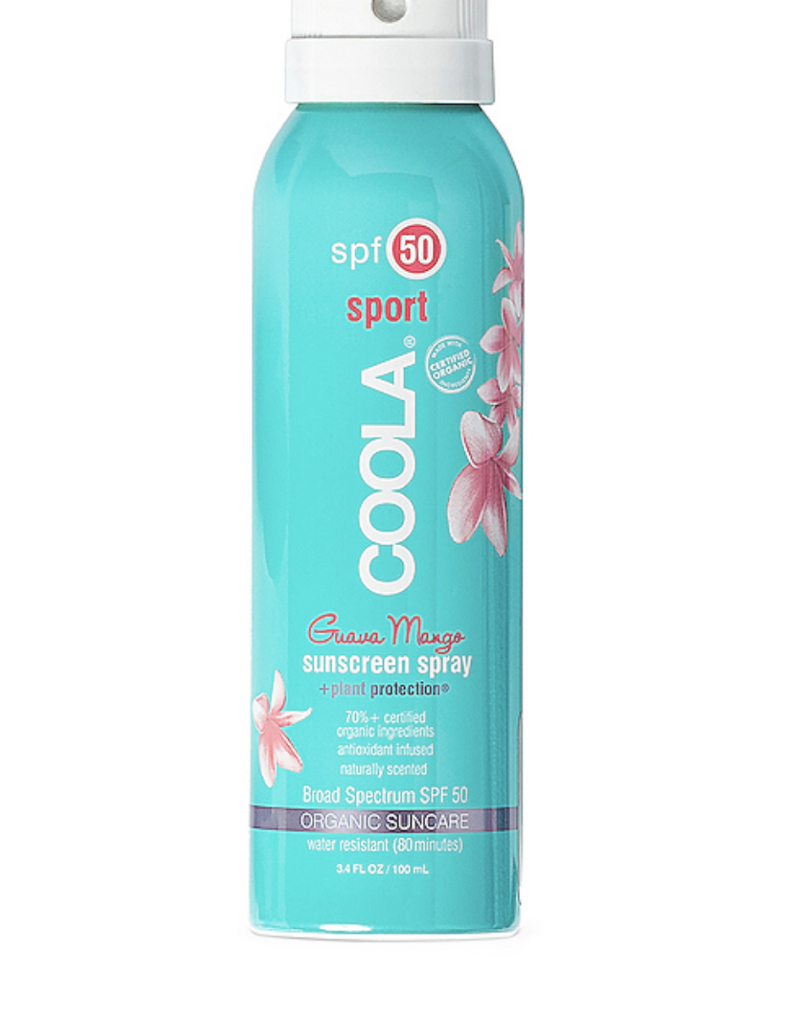 Coola Guava Mango Body Spray Sunscreen SPF 50 3.4 Oz