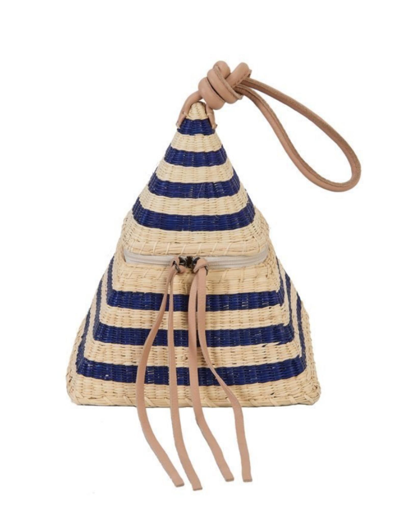 Nannacay Dark Blue /Natural Pyamid Noor Bag
