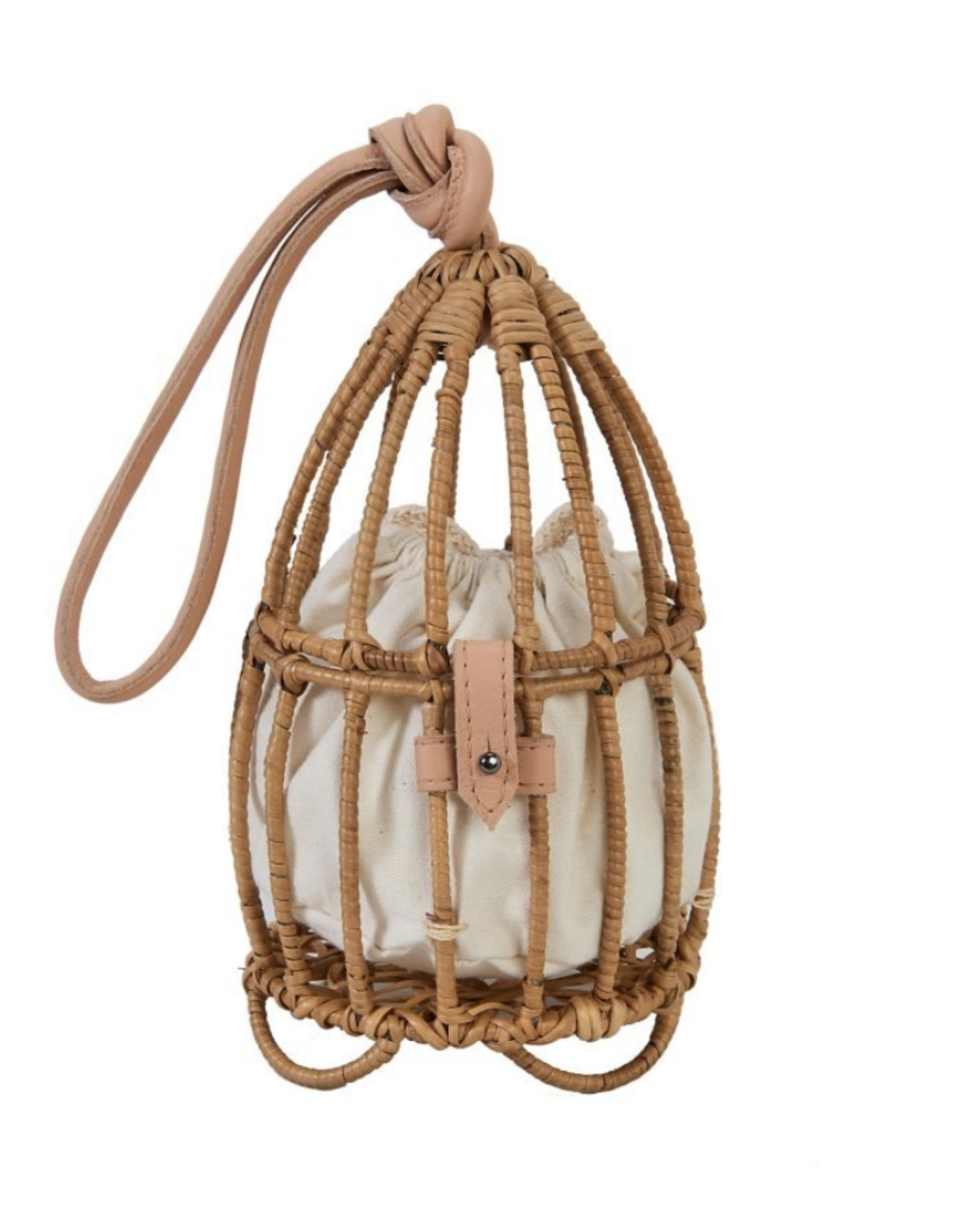 Nannacay Natural Inga Cage Bag
