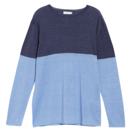 Onia Color Block Safari Sky Kevin Crewneck Sweater