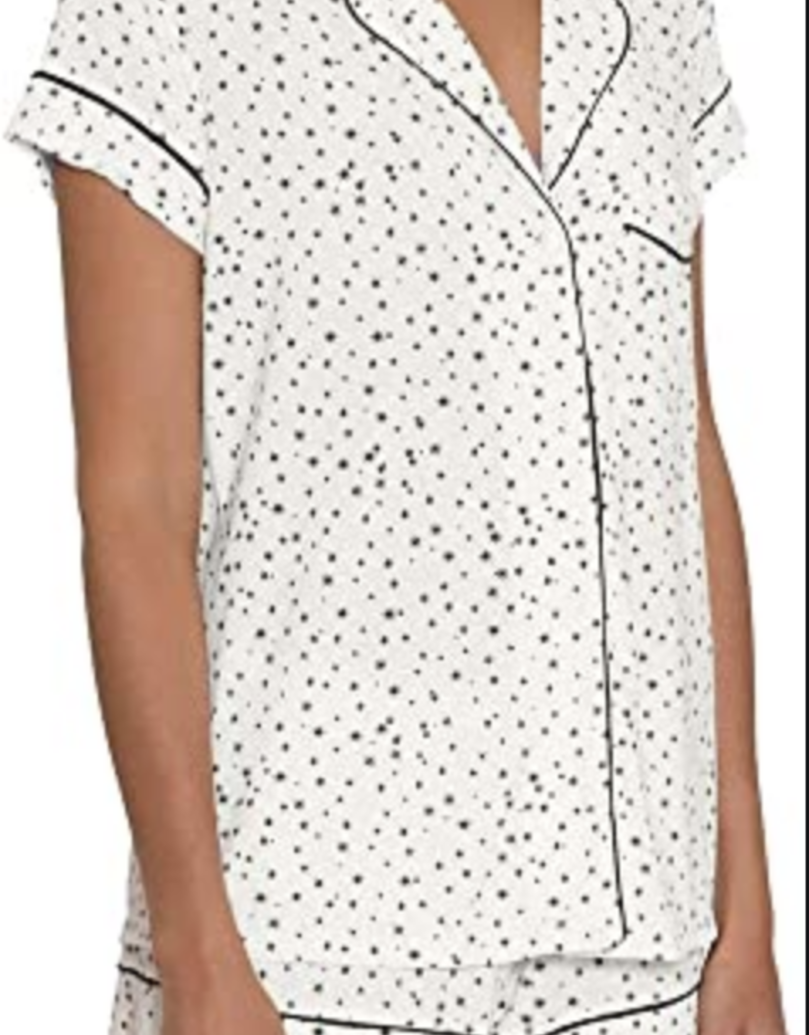 Eberjey Estrella Ivory/Navy  Sleep Chic The Short PJ