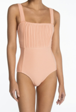 Peony Apricot Pintucked One Piece