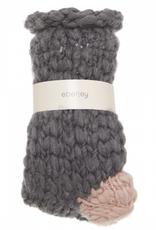 Eberjey Flannel/Rose Smoke Scout Slipper Sock