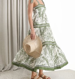 Zimmermann Khaki Palm Empire Dress