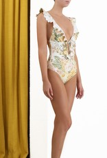 Zimmermann Ivory Floral Amelie One Piece