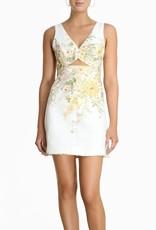 Zimmermann Ivory Garden Floral Amelie Cutout  Short Dress
