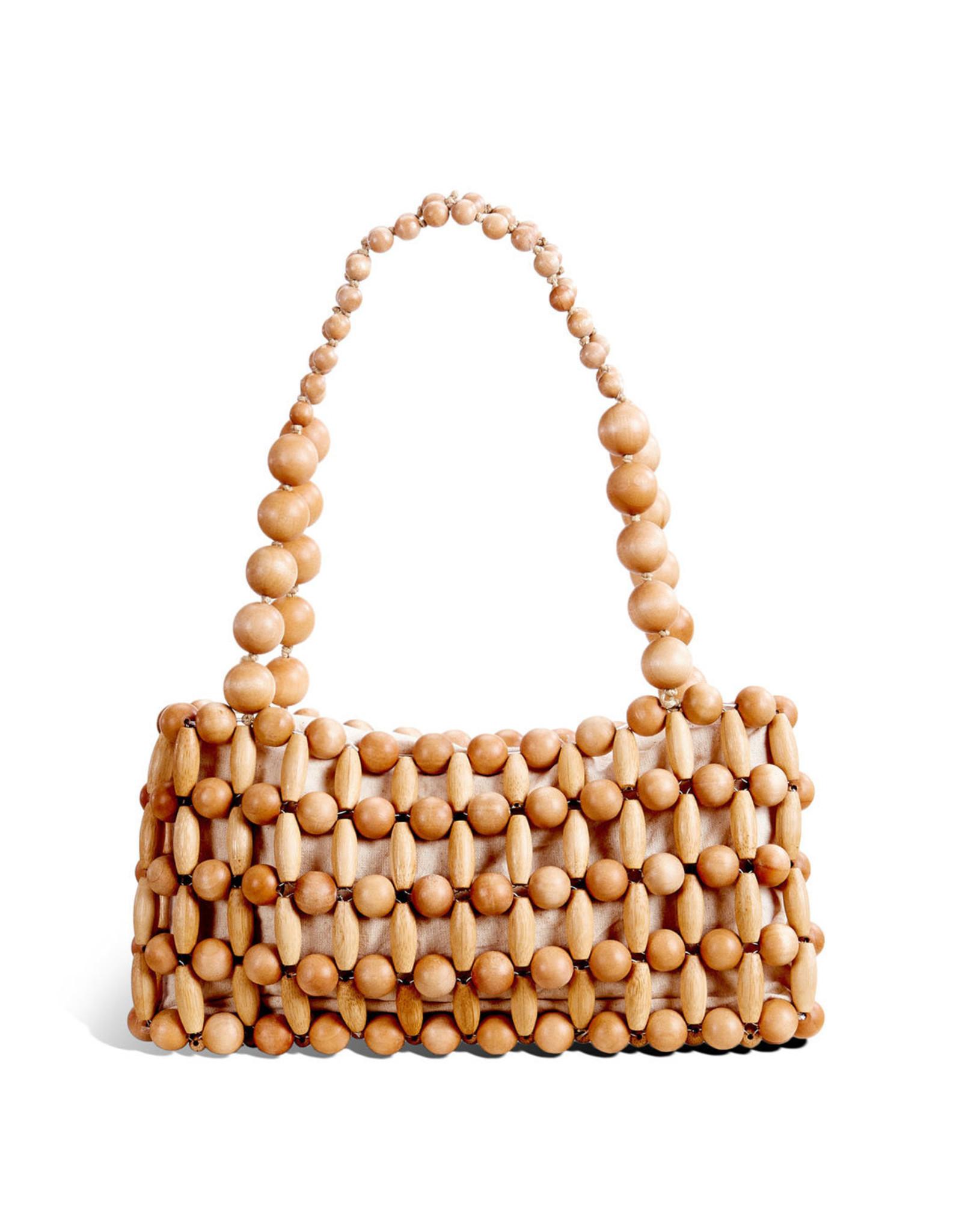 Cult Gaia Natural Cora Shoulder Bag