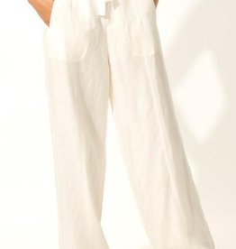 Solid and Striped Off White Tailored Pants