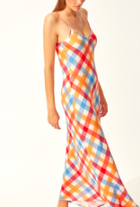 Solid & Striped Tropical Gingham Column Dress