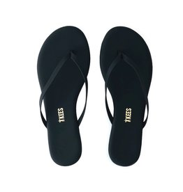 Tkees Vegan Matte Lily Black Sandals