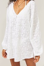 The Devon Tunic Fruit Print Eyelet