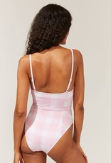 Solid & Striped The Spencer Cloud Pink One Piece