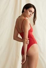 Onia Lola One Piece Sporting Red
