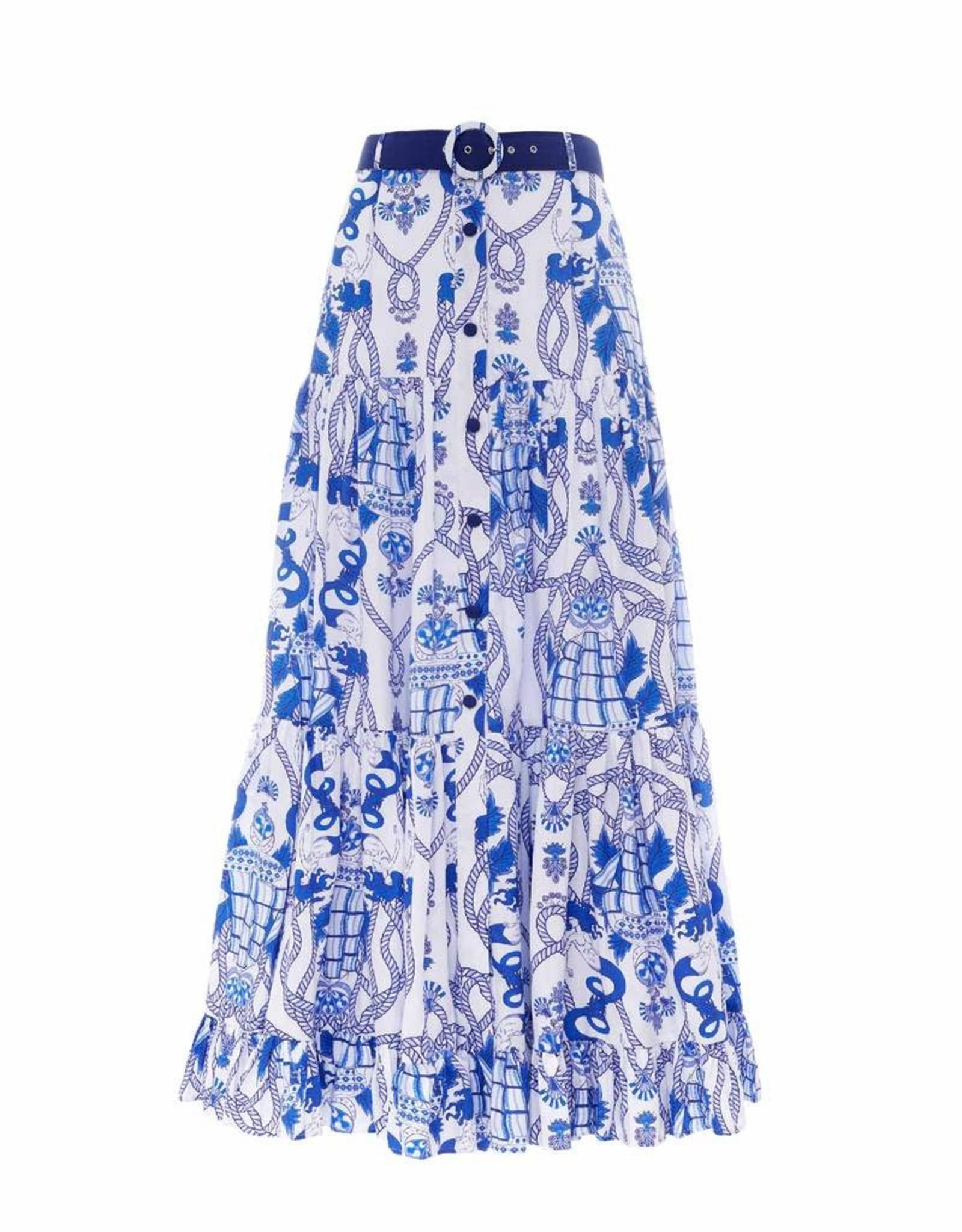 Paolita Cleo Button Maxi Skirt SMALL