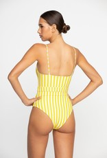 Mikoh Mila OP with High Leg Stripe Starfruit