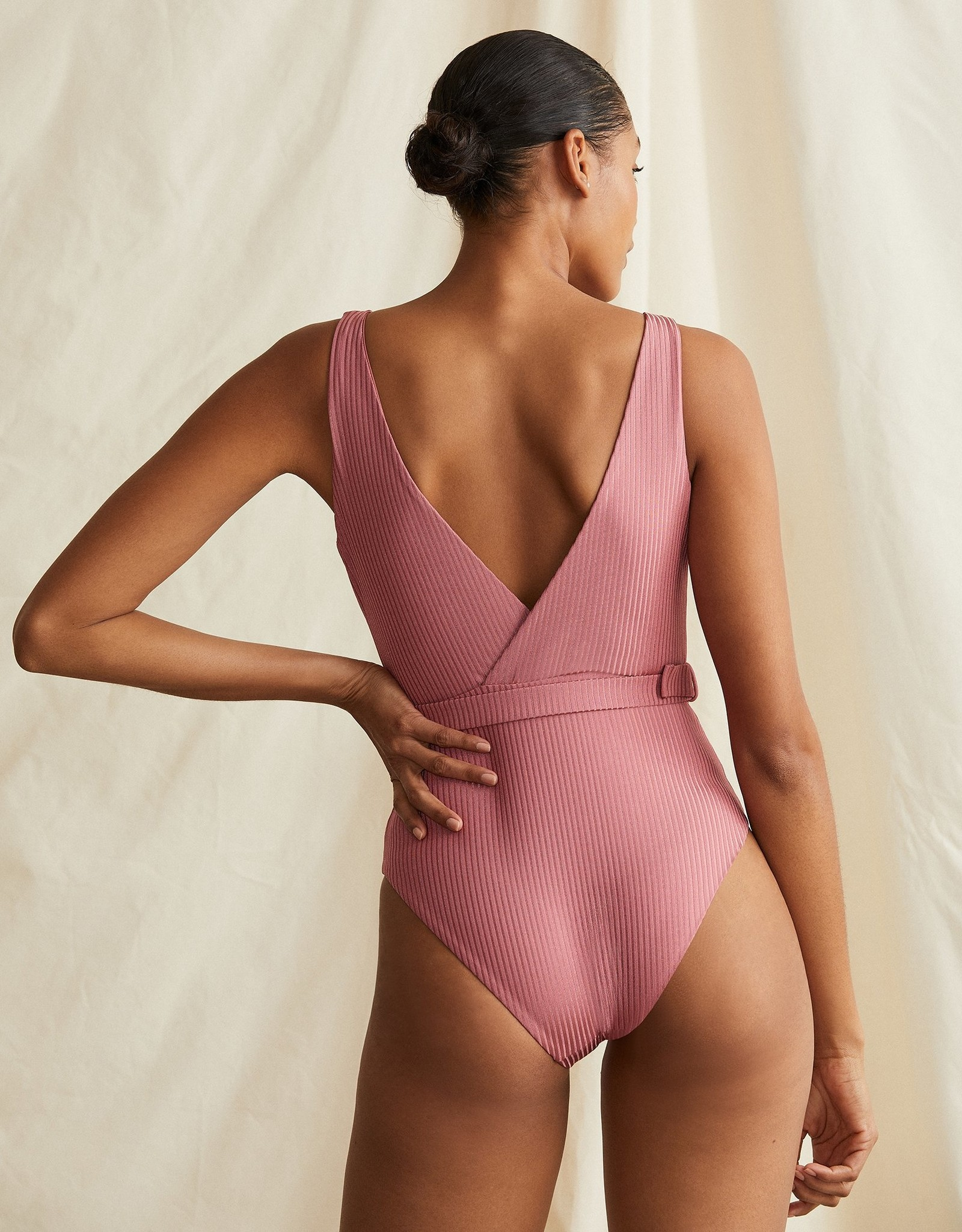 Onia Michelle OP Dusty Rose Shimmer Rib