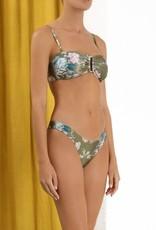 Zimmermann Cassia Wide Link Bikini Brown Floral