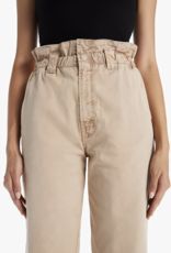 Mother The Yoyo Ruffle Greaser Ankle Pants Sesame