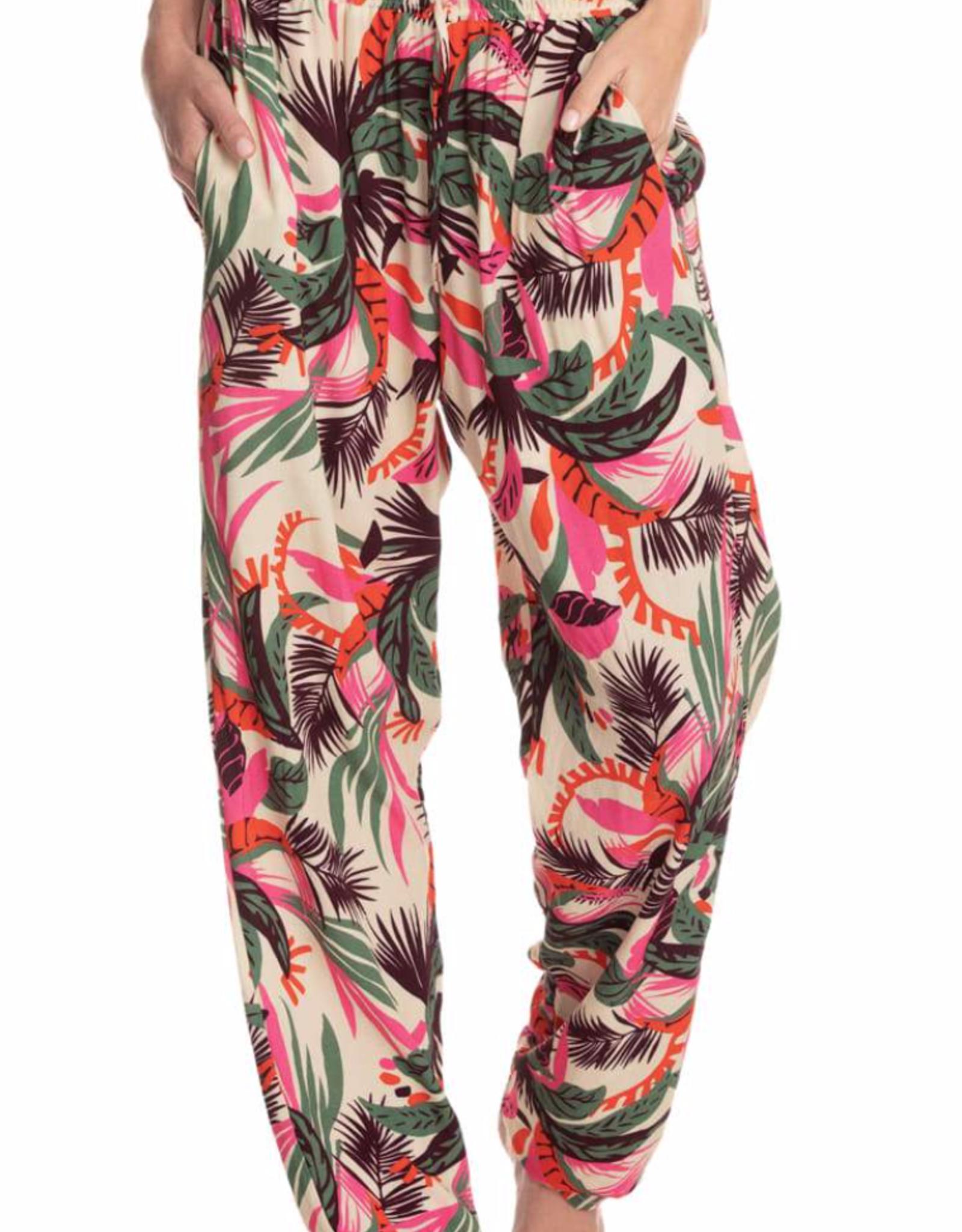 Maaji Pants Paper Bag Waistband Blooming Desire