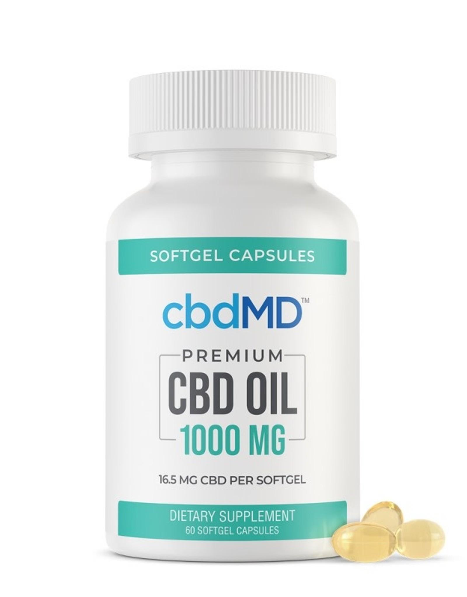 Be Organics CBDMD Oil Softgel 60 Capsules 1000mg