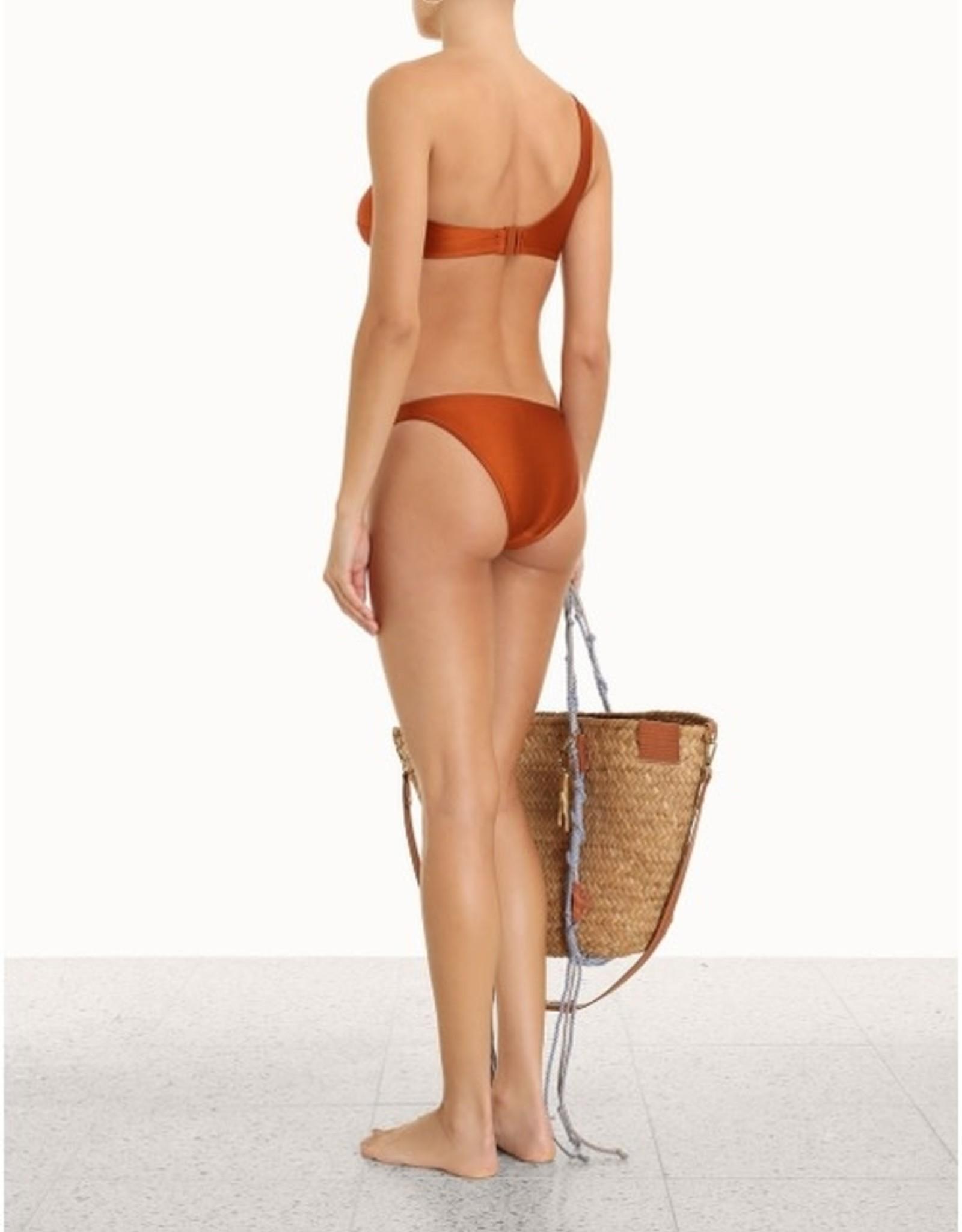 Zimmermann Estelle Tie Shoulder Bronze Bikini