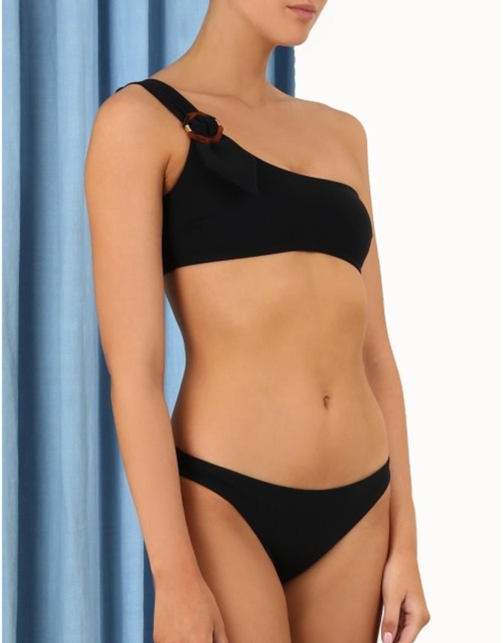 Zimmermann Teddy Buckle Noir Bikini