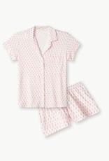 Eberjey Gisele Printed The Short PJ Set Daisy Bright Pink