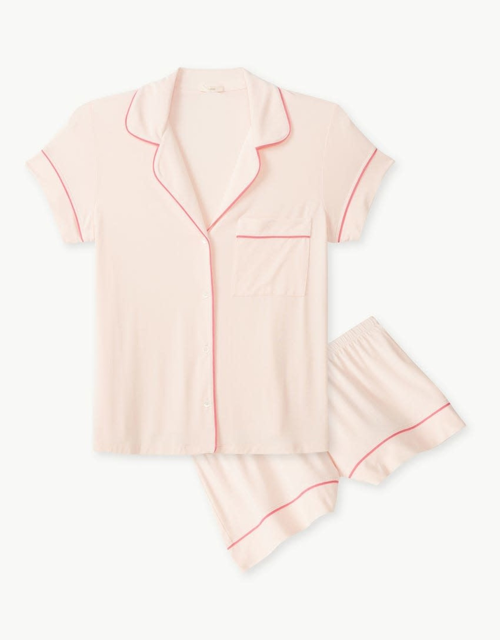 Eberjey Gisele The Short PJ Set Bellini Bright Pink