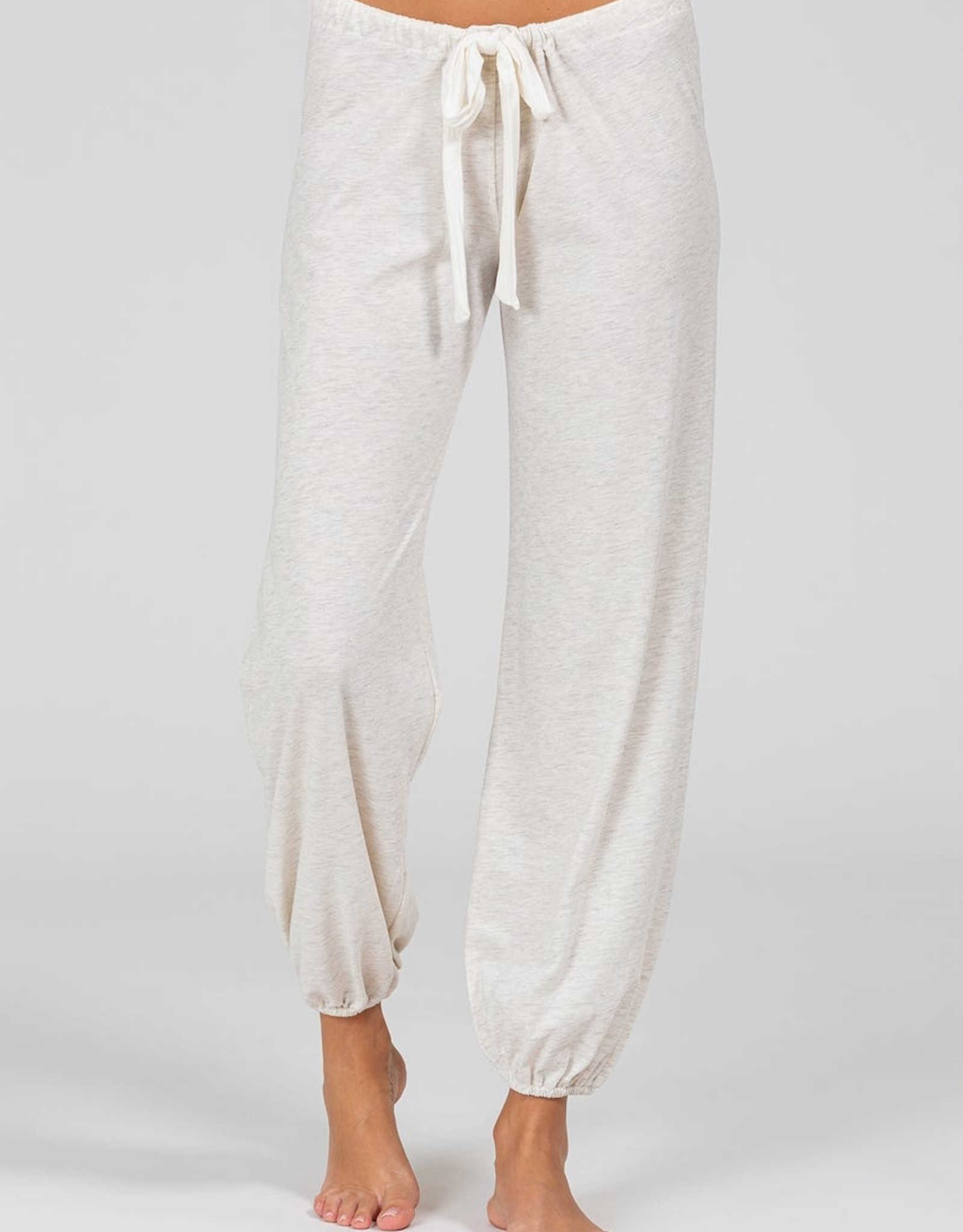 Eberjey Heather Slouchy Top & Cropped Pant Oatmeal
