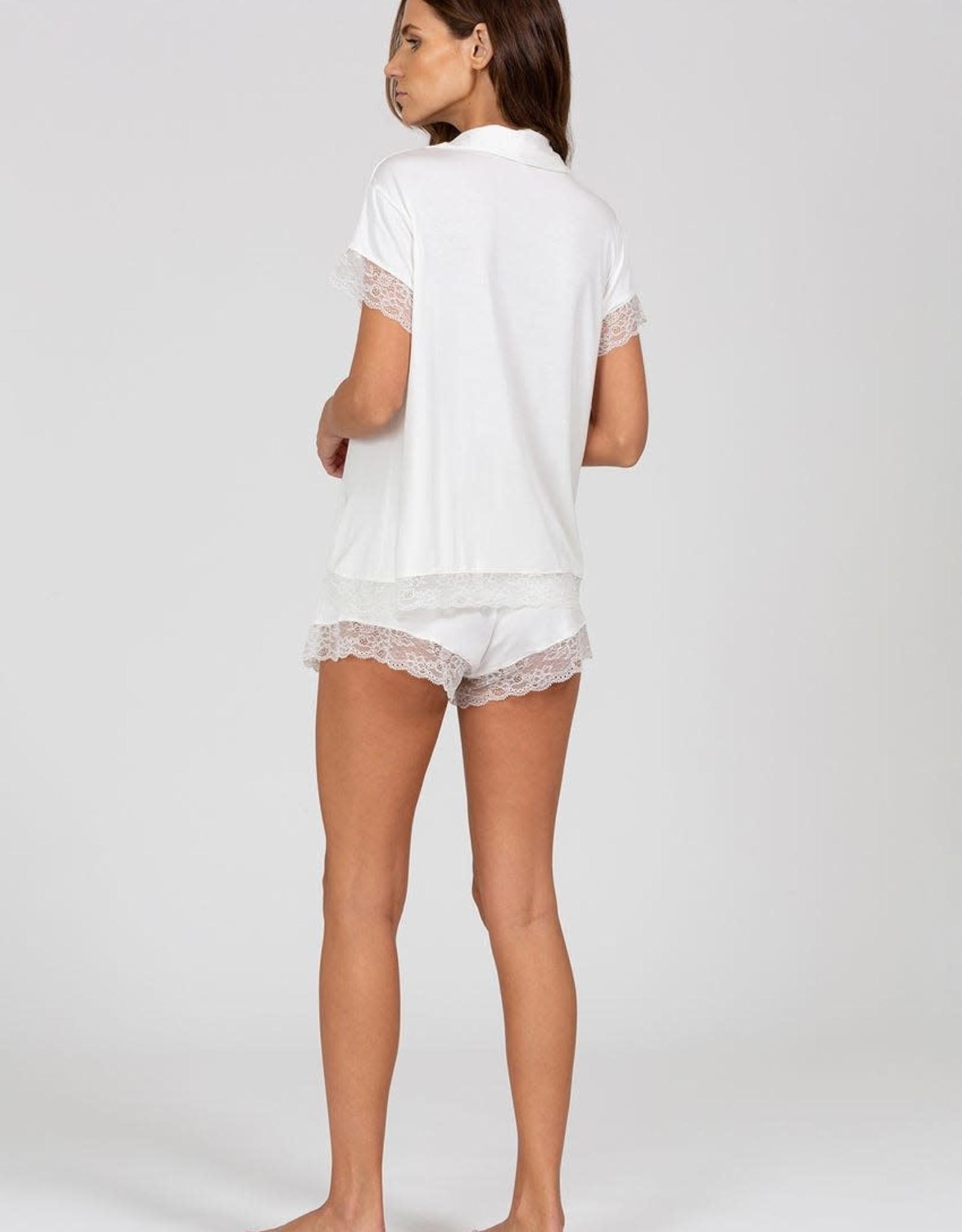 Eberjey Malou Lace Short Set Ivory