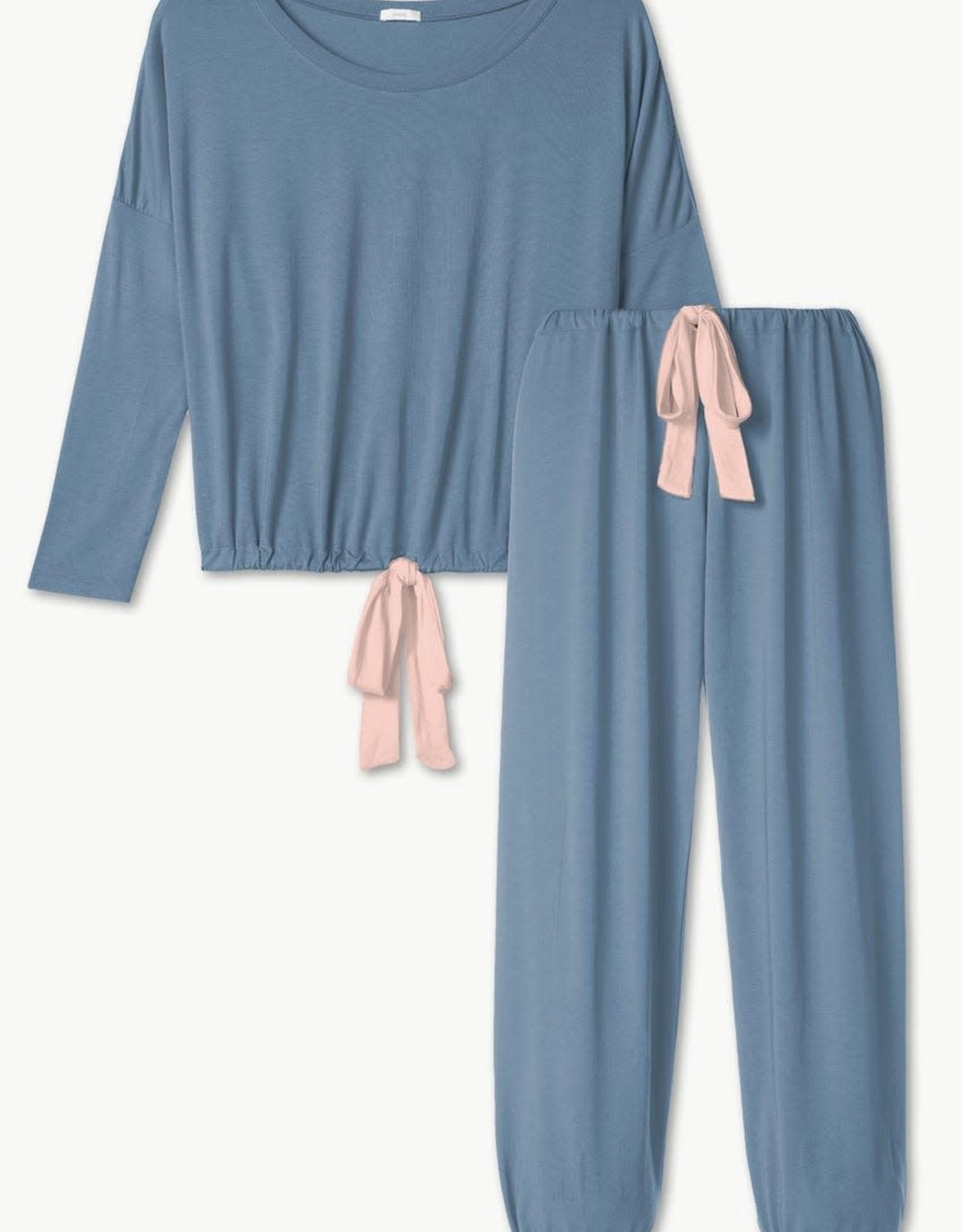 Eberjey Gisele Slouchy Set Blue Shadow Blush
