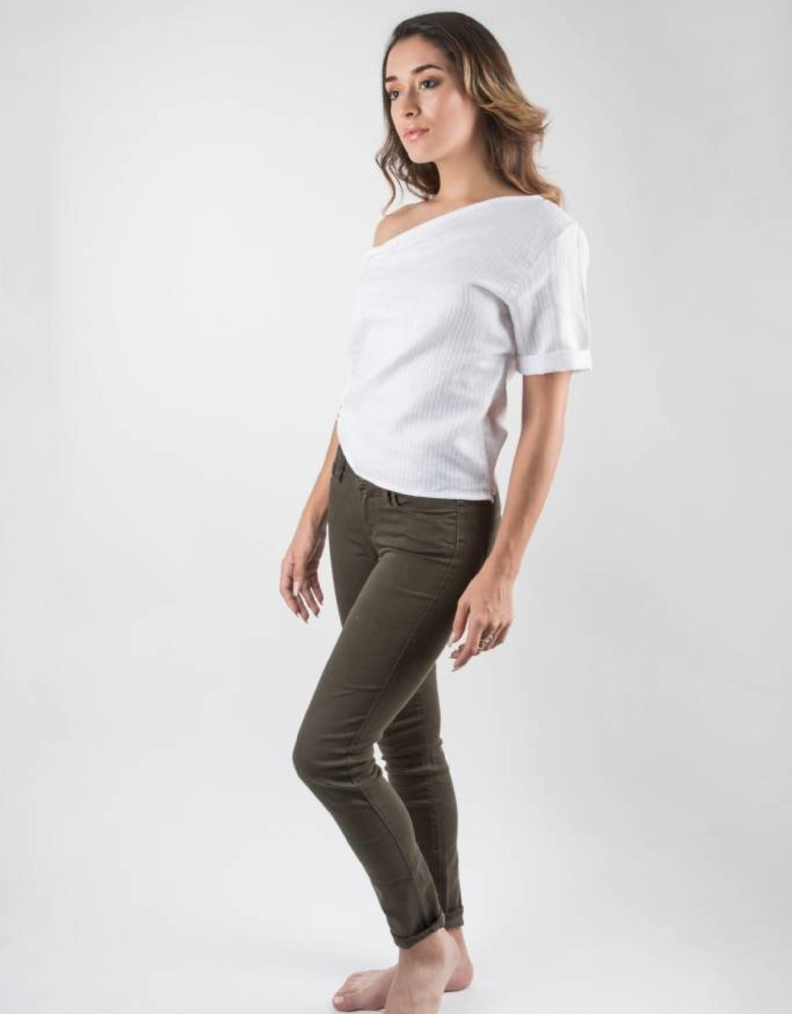 Paige Verdugo Ankle Vintage Deep Juniper Green Skinny Jeans
