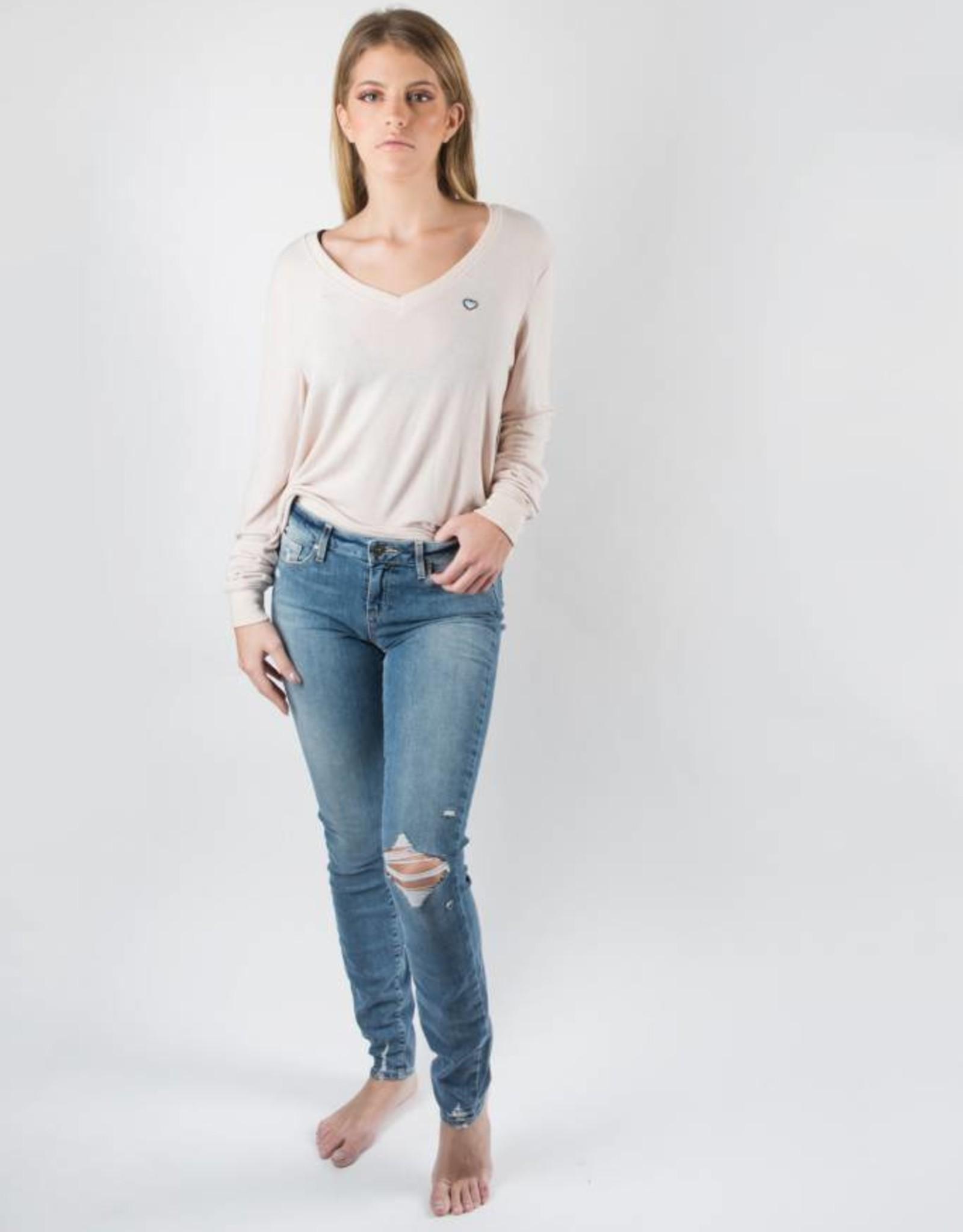 Paige Verdugo Destructed Denim Ultra Skinny Jeans