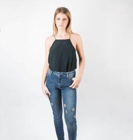 Paige Hoxton Ankle Peg Wordplay Embellished Skinny Jeans
