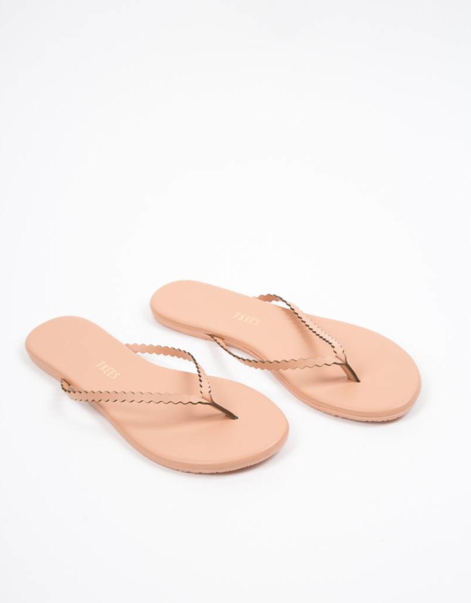 Tkees Studio Scalloped Sophie Nude Sandals