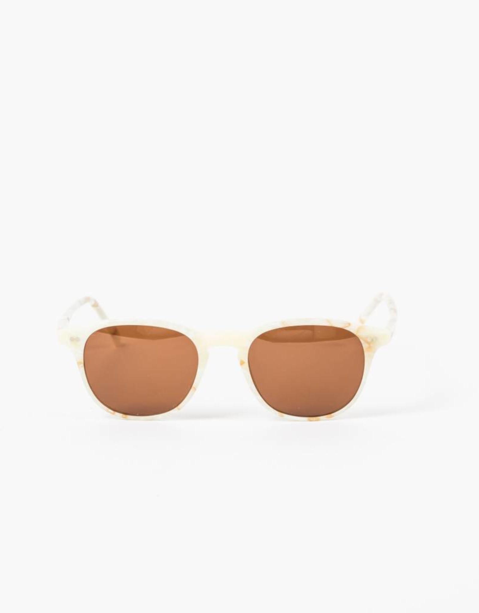 Illesteva Whitman Cream Marble Sunglasses