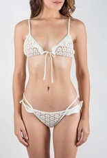 FL&L Alicante Ivory Lace Ruffles Bikini