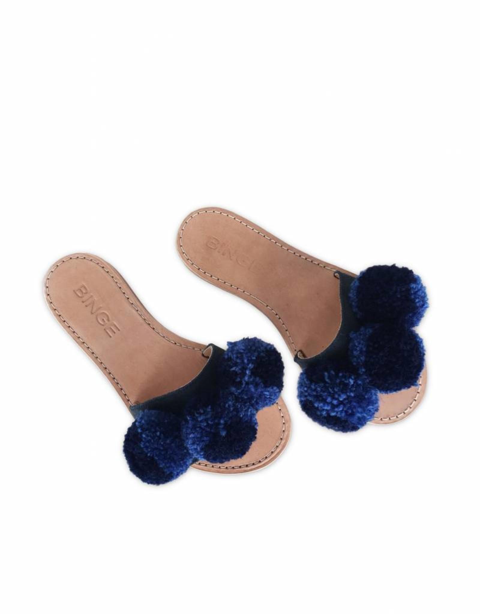 Binge Navy/Indigo Pom Slip-Ons Sandals