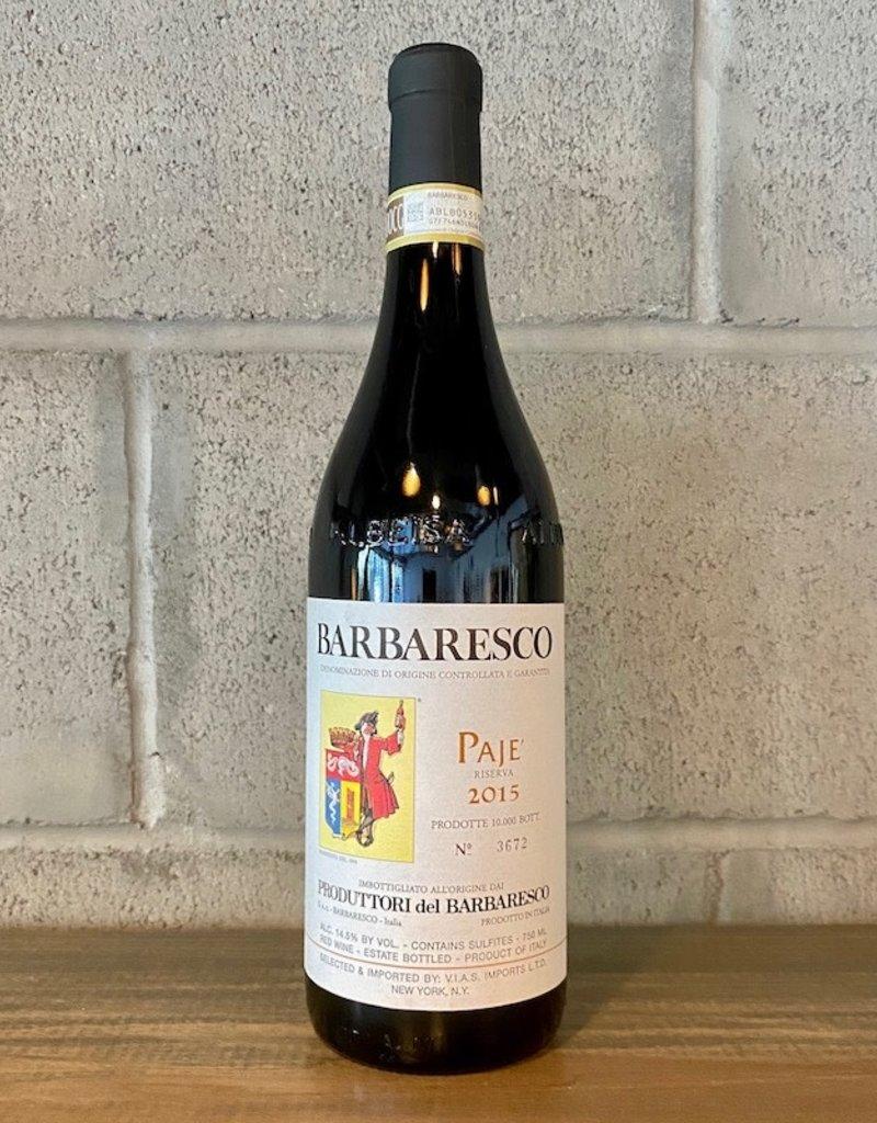 Italy Produttori del Barbaresco, Barbaresco  'Paje' Riserva 2015