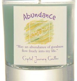 Herbal Magic Glass Votive- Abundance