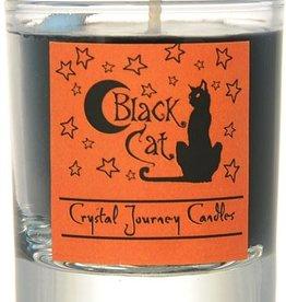 Herbal Magic Glass Votive- Black Cat