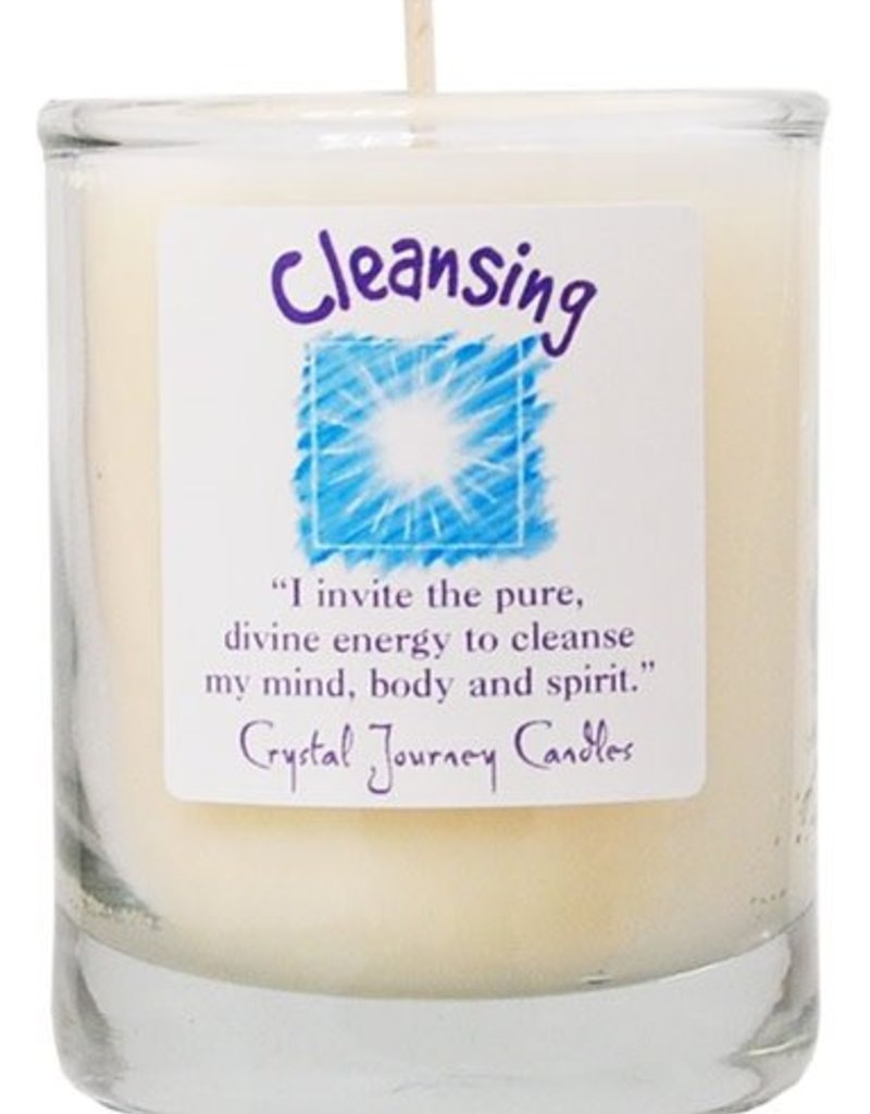 Herbal Magic Glass Votive- Cleansing
