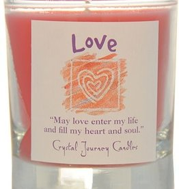 Herbal Magic Glass Votive- Love