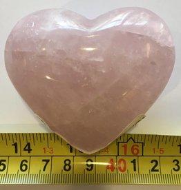 Rose Quartz Heart- Med